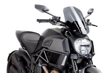 14-16 Ducati Diavel Puig Naked Touring Windscreen, Dark Smoke  7570F