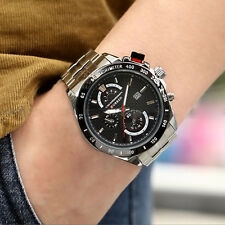 Mens-Edelstahl-Sport-Uhr-Quarz Datum Wasserdichte Sport-Clock