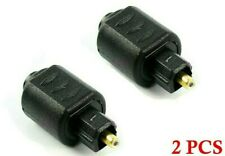 2 Pack Optical 3.5mm Female Mini Jack Plug to Digital Toslink Male Audio Adapter