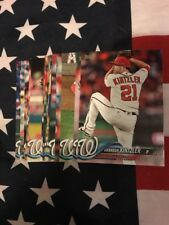 2018 Topps Washington Nationals Complete Team Set With Leader Cards