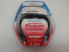 CABAC PWCL2 POWER CABLE 3 PRONG CLOVER-LEAF 2M NEW