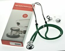 Sprague Rappaport Stethoscope for doctors Nurse Student cardiologist Green CE