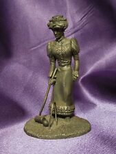 1974 Fine Pewter The Gibson Girl Victorian Woman by Franklin Mint Sculpture Art