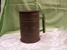 Rare Unique FLOUR SIFTER Bromwell's Multiple HAND SHAKING w/Top & Bottom Lids