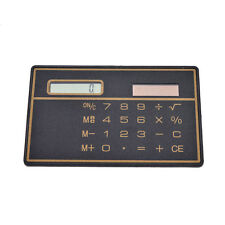 Mini Credit Card Solar Power Pocket Calculator Novelty Small Travel Compact liau