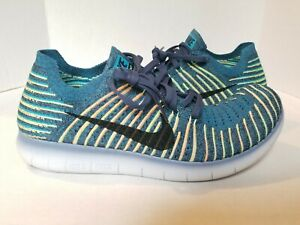 Nike Free RN Flyknit Squadron Green 831069-407 Men's Size 11 Running New