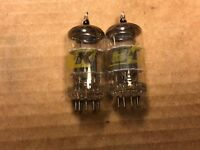 Matched Pair Vintage B&K 12AT7 Tubes 1960s Test Strong Balanced Japan
