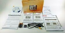 Canon PowerShot A590IS Manuals Box 2GB SD Card 2 AA Batteries & Cord, NO CAMERA!