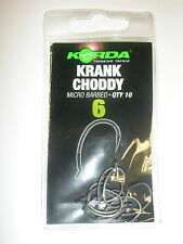 Korda Krank Choddy Carp Hooks 10pk Barbed ALL SIZES Carp fishing tackle