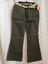 ARIZONA Green Belted Pants  Junior  Girls Plus Size 16.5