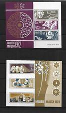 Malta, 1972+1973 Christmas mini sheets, both MNH (7425)