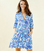 Lilly pulitzer succulent blue lillith tunic dress rrp $148 size large bargain