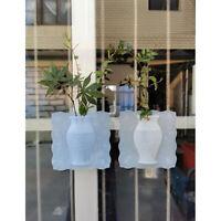 An der Wand befestigte Silikon-Vasen-Aufkleber ummauern nahtloses Paste-magische