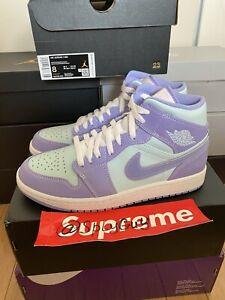 Nike Air Jordan 1 Mid Size 8 Purple Pulse / Glacier Blue / Aqua 554724-500