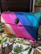 Kurt Geiger London rainbow multicolor Leather Kensington Crossbody shoulder bag