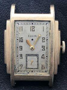 Elgin Art Deco Wrist Watch Gold