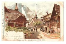 FRANCE 1634-VILLAGE SUISSE. PARIS 1900 -Une Rue du (1900)( L.Trinquier Trianon)