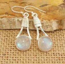 Moonstone 925 Silver Drop Earrings Indian Jewellery