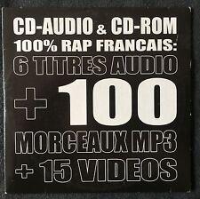 Compilation CD-Audio & CD-Rom 100% Rap Français 6 titres - Promo - France (VG+/M