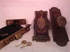 Antique Brass Y&T Rampant Lion Door Knob Set Cylinder Thumb Turn with key #760