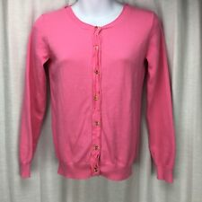 Crewcuts Pink Cardigan Girls Size 14 Long Sleeve Button Front 100% Cotton