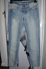 "WOMEN ""EDC"" JEANS  studded SKINNY  FADED BLUE STRETCH STYLISH HIGH QUALITY 28/30"