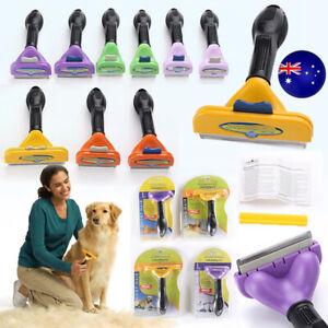 Furminator DeShedding Tool Grooming Cats Dogs Brush Rake Comb Long Short Hair AU