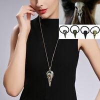Women Punk Dark Skull Victoria Raven Bird Claw Necklace Hairband Jewelry Set