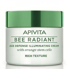 APIVITA BEE RADIANT Natural Age Defense Face Cream Orange Rich Texture 50ml