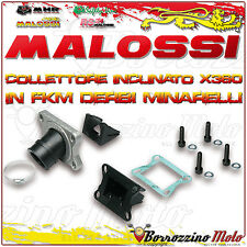 MALOSSI 2013800 COLLETTORE INCLINATO X360 Ø 21 - 24,5 MBK X-POWER 50 2T LC AM6
