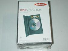 100 Stück Ednet Single Slim Box Case Leerhülle DVD CD Bluray Videobox Schwarz-