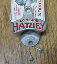 Vtg Starr X Lo Mejor Hatuey Beer Bottle Opener USA Unused NOS w/ box screws