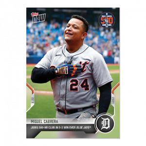 8/22/21 Miguel Cabrera 2021 MLB Topps Now Card #691 Joins 500 HR Club PRE SALE