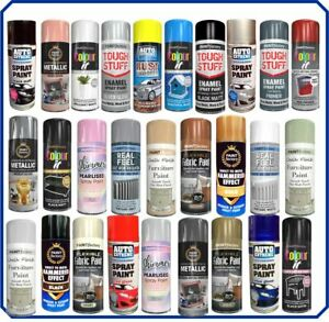 Spray Paint Aerosol Can Wood Metal Plastic Car Primer Metallic Matt Gloss Clear