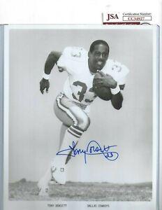 Tony Dorsett Autographed 8x10 Photo Dallas Cowboys Football Hall of Fame JSA COA