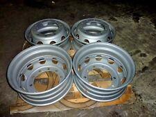 Set of 4 Semi Diesel Truck Wheels Steel Painted 10 hole lug dump tractor