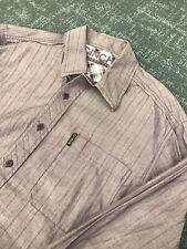 Cinch Mens Modern Fit Medium Flip Cuff Western Cowboy Button Purple Shirt Rodeo