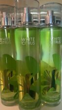 3 BATH & BODY WORKS WHITE CITRUS FINE FRAGRANCE MIST BODY SPRAY SPLASH 8 oz