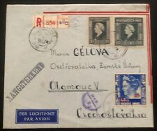 1948 Batavia Netherlands Indies Airmail Cover To Olomouc Czechoslovakia