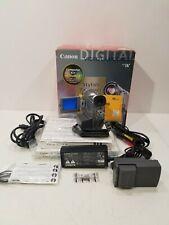 Canon Elura 50 Digital Video Camcorder Ntsc W/ Accessories Cables Manuals Box