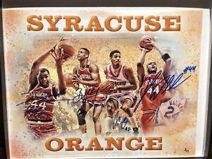 COLEMAN OWENS MOTEN WALLACE Signed Autograph 11x14 Photo Syracuse Orange COA /44