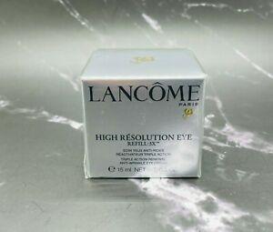 Lancome High Resolution Eye Refill 3X Triple Action Renewal Eye Cream 0.5 oz Box
