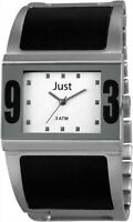 Just Damenuhr Silber Schwarz Analog Edelstahl Quarz Armbanduhr D-JU10041002