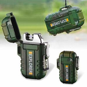 USB Elektro Feuerzeug Elektronisches Sturmfeuerzeug Wasserdicht mit Geschenkbox