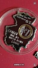 2002 nauru first issue of euro silver coin,no box no coa
