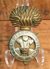 Original Antique British Millitary ROYAL WELSH FUSILIERS Cap Clip Badge