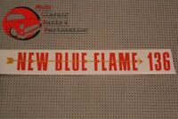 55 Chevy New Blue Flame 136 Valve Cover Decal Auto Transmission 6-cylinder