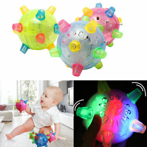 Baby Kids Classic Toy Jumping Flashing Light Up Bopper Vibrating Sound Ball _BE
