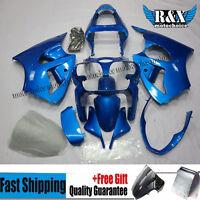 Blue Fairing Kit For Kawasaki Ninja ZX6R 636 2000-2002 00 ABS Plastic Bodywork