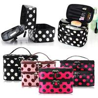 Women Multifunction Cosmetic Bag Makeup Case Pouch Toiletry Travel Zip Organizer